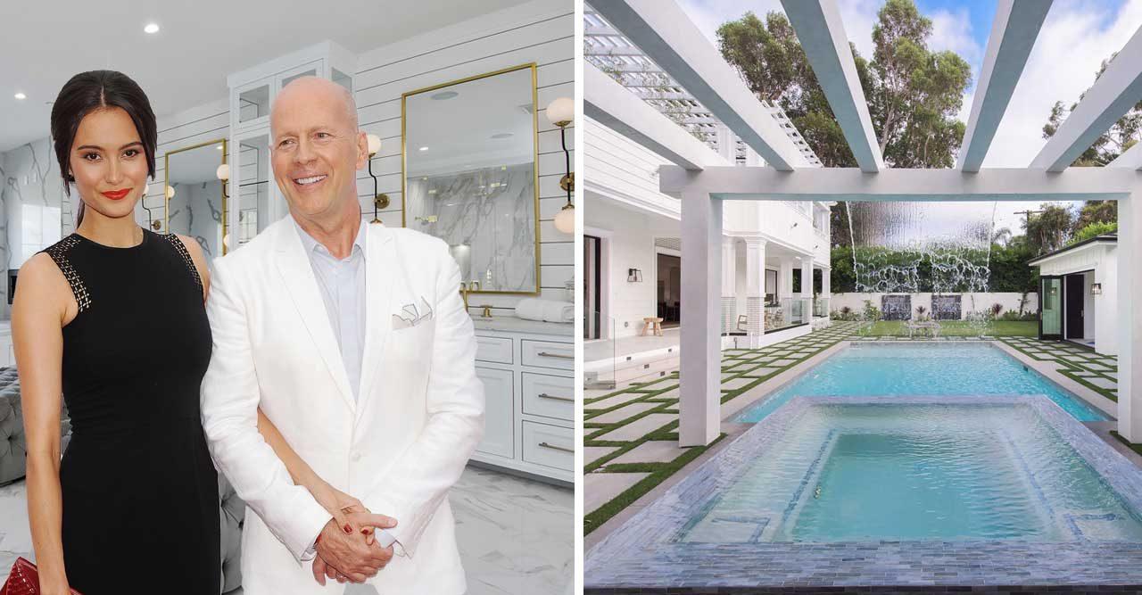 Titta in i Bruce Willis nya hem – med eget vattenfall!