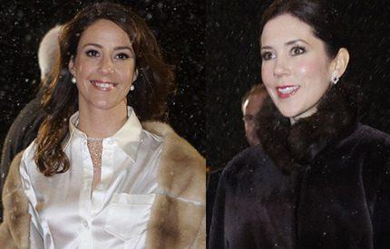 Mary och Marie trotsade snöovädret och gick på galakväll