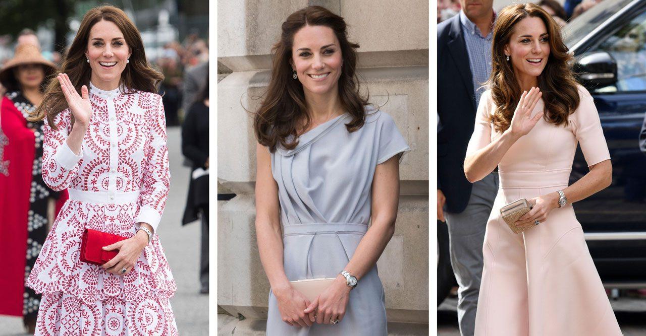 Kate Middleton med en liten clutch