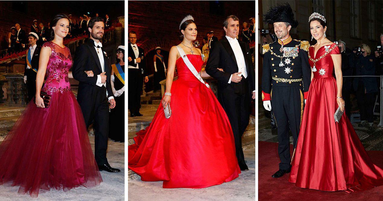 10fa9ff47c6e Röda klänningar Kronprinsessan Victoria, prinsessan Sofia och Kronprinsessan  Mary