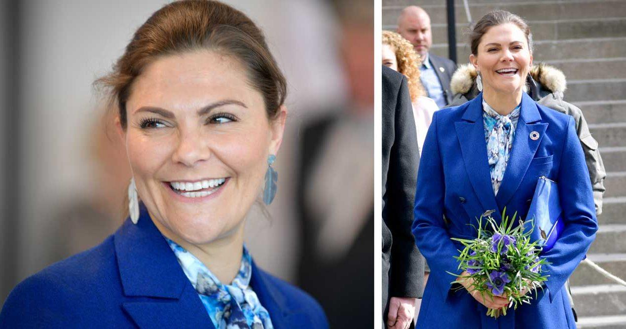 Kronprinsessan Victoria blå kostym