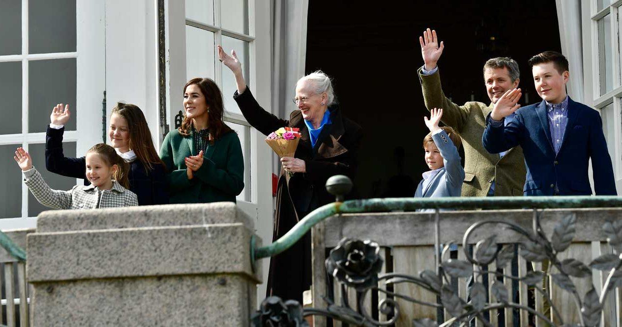 drottning Margrethe med familj