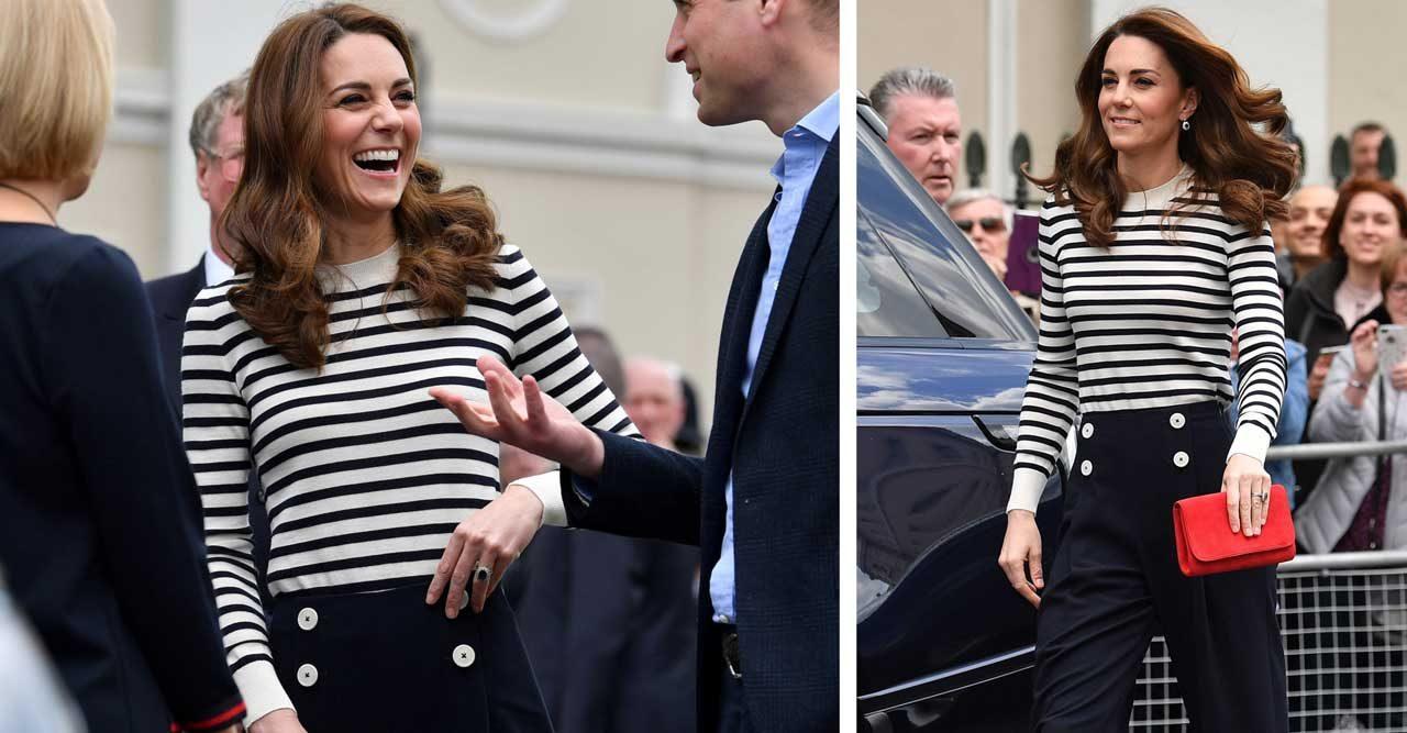 Kate i randig tröja