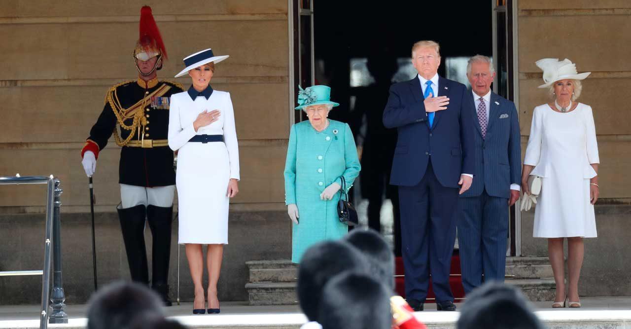 Donald Trump och drottning Elizabeth