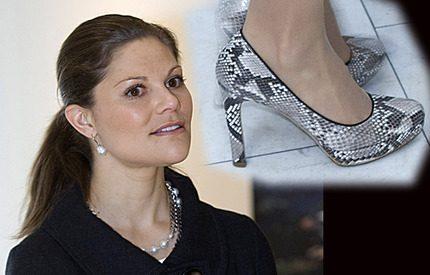 Bråk om kronprinsessan Victorias skor