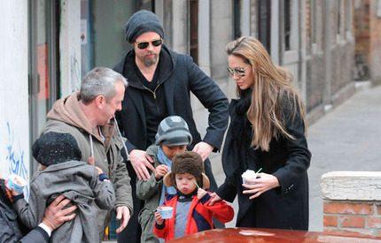 Brad och Angelinas barn bjöds på glass i Venedig