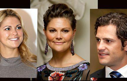 Victoria, Madeleine och Carl Philip har fullt program