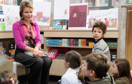 Kronprinsessan Mathilde läste sagor för barnen