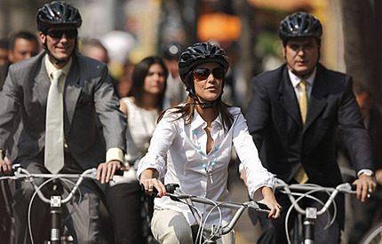 Marie och Joachim på cykeltur i Mexico City