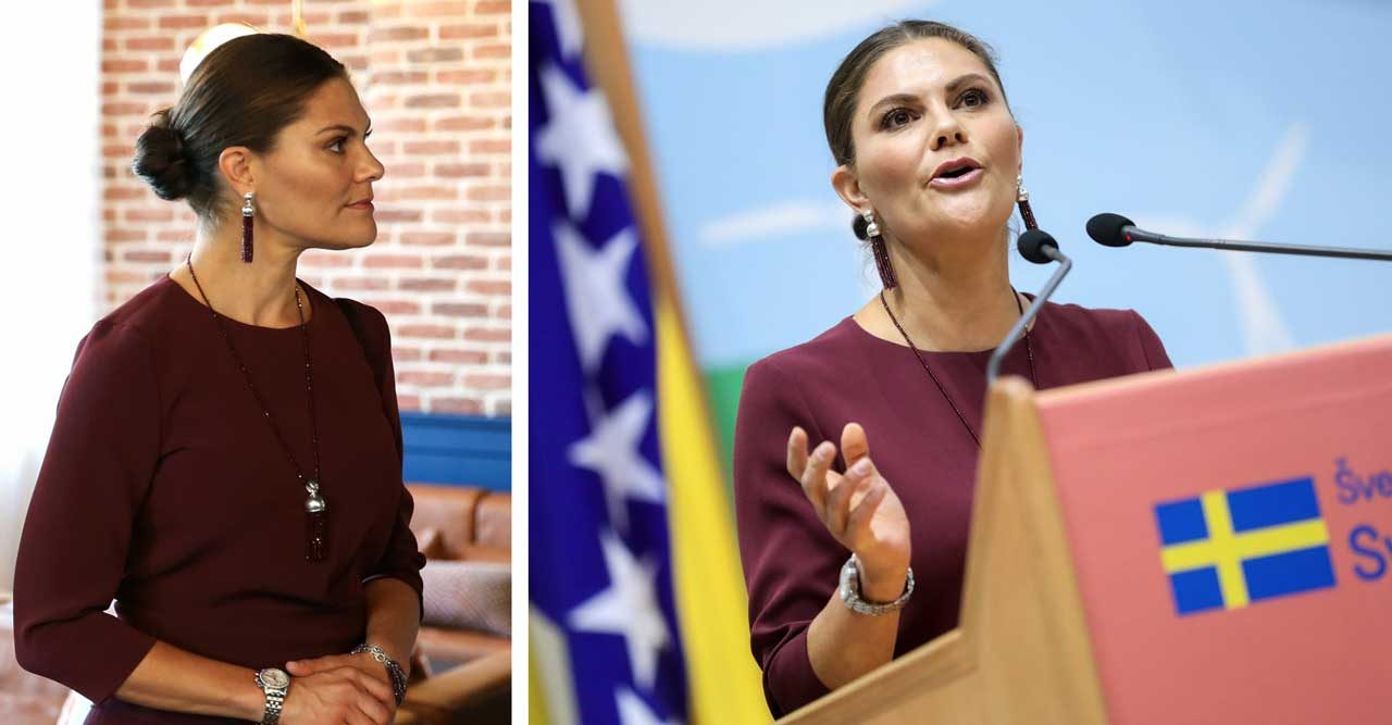 Kronprinsessan Victoria talar i Bosnien