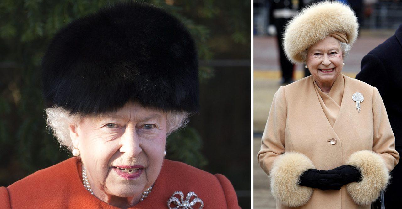 drottning elizabeth slutar bara päls