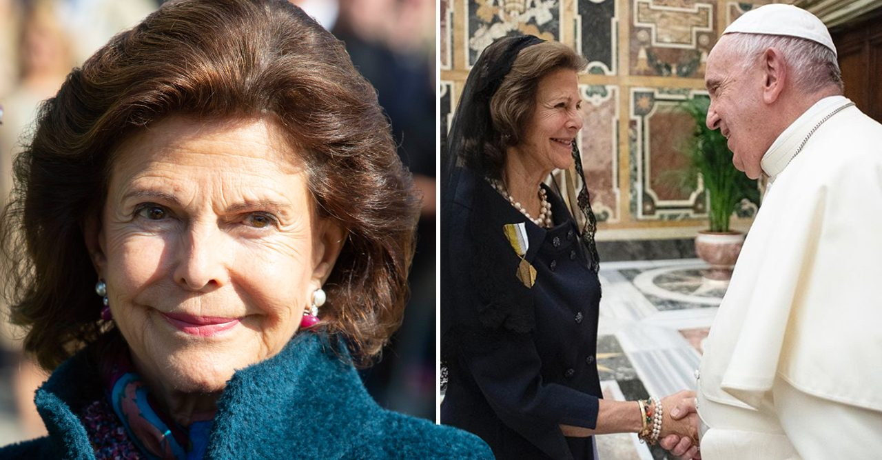 Reina Silvia tierna reunión con el Papa