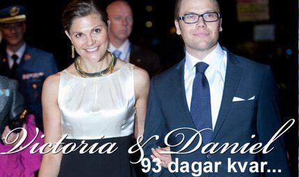 Bara 93 dagar kvar: <br>Victorias och Daniels bröllop närmar sig...