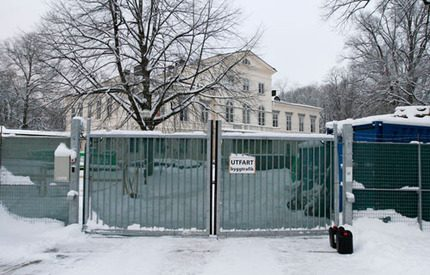 Stängsel hindrar ovälkomna besökare på Haga slott