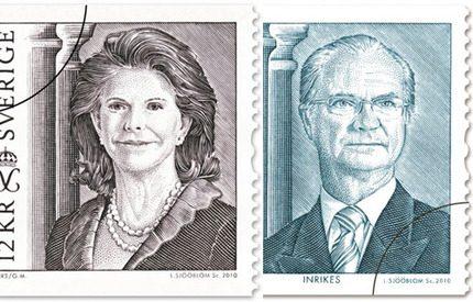 Nya frimärken på kungen och drottningen i dag!