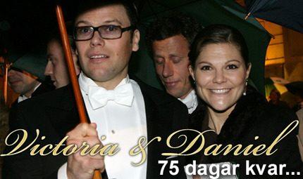 Victorias och Daniels bröllop närmar sig – 75 dagar kvar!