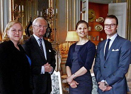 Kungen och kronprinsessparet mötte handelsministern