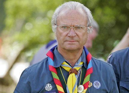 Kungen har lämnat landet för att åka på scoutmöte