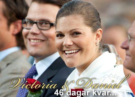 46 dagar kvar till Victorias och Daniels bröllop