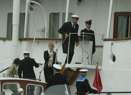 Kungligt båtliv under bröllopsfesten