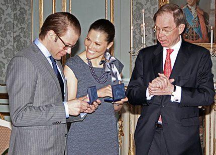 Kronprinsessan Victoria och Daniel Westling fick sitt minnesmynt
