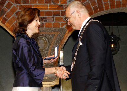 Drottning Silvia fick S:t Eriksmedaljen