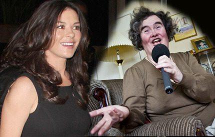 Catherine Zeta-Jones vill göra en film om Susan Boyles liv