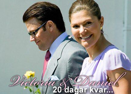 Victorias och Daniels bröllop närmar sig...
