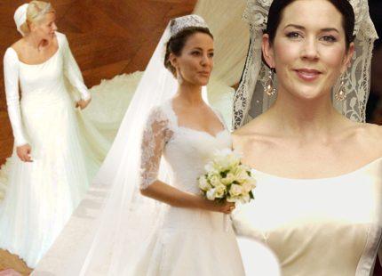 Bildspel: Prinsessornas vackraste brudklänningar