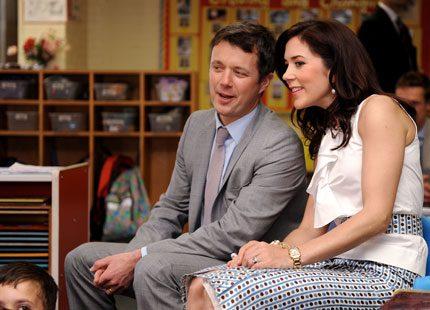 Mary och Frederik besökte skola i USA