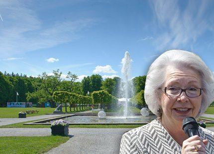 Prinsessan Christina invigde utställning i Ulriksdals slottspark