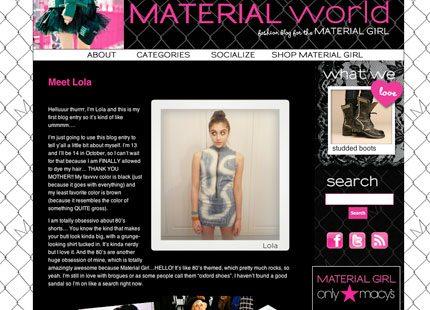 Madonnas dotter Lourdes har skaffat en egen blogg