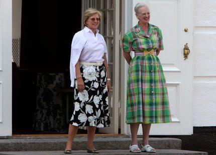 Drottning Margrethe umgås med släkten
