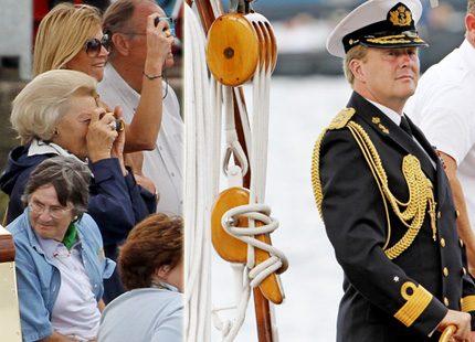 Kronprins Willem Alexander i täten <br> i SAIL Amsterdam 2010