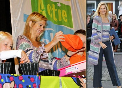 Kronprinsessan Máxima fyller skokartonger för barnens skull