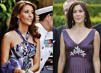 Prinsessan Marie och kronprinsesan Mary matchar varandra