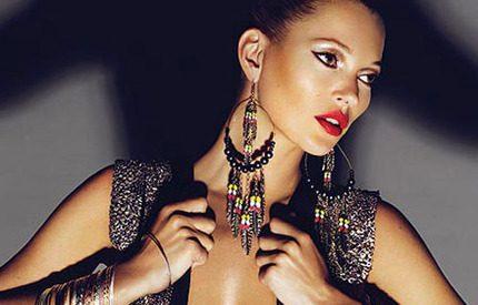 Kate Moss satsar på sexigt och avklätt i Topshop-design
