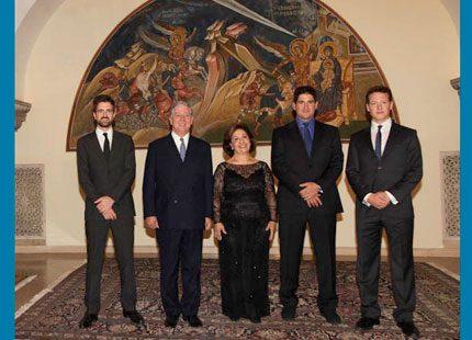 Serbiens kronprins Alexander firade 25-års jubileum med hustrun