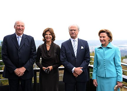 Voksenåsen och Svenska kyrkan i Norge fick kungligt besök i helgen