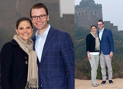 Victorias och Daniels första dag i Kina – besökte kinesiska muren