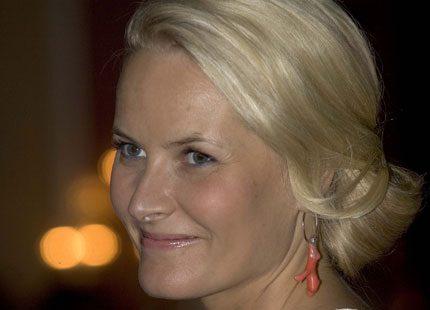 Kronprinsessan Mette-Marit på avskedsmiddag
