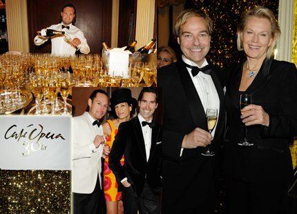 Champagnen flödade då Café Opera firade 30 år!