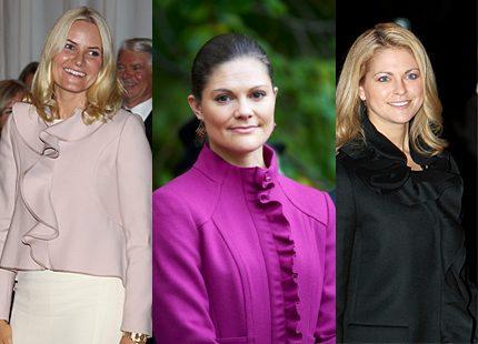 Mette-Marit, Victoria och Madeleine i modetoppen med volanger...