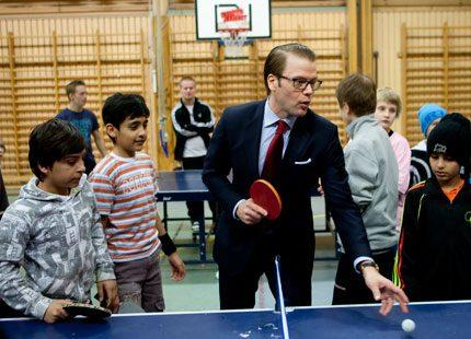 Sportiga aktiviteter på schemat för prins Daniel