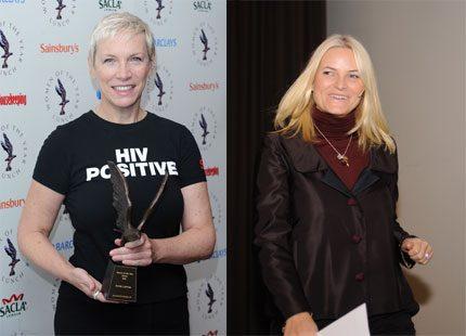 Mette-Marit prisas av popstjärnan Annie Lennox
