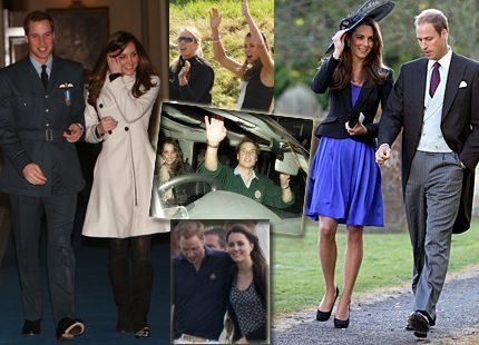 Bildspel: Prins Williams och Kates kärleksresa <br> till förlovningen
