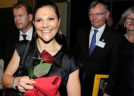 Kronprinsessan Victoria på strålande humör i Göteborg