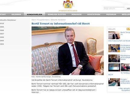 Bertil Ternert tar över som informationschef på slottet