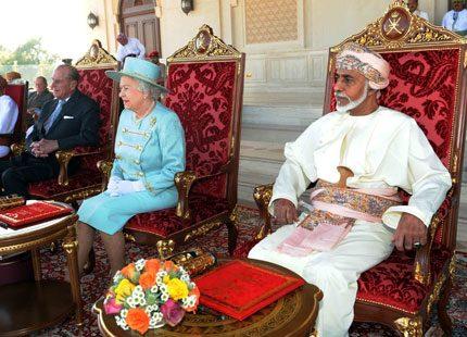 Dyrbara presenter och hästtävlingar för Elizabeth i Oman