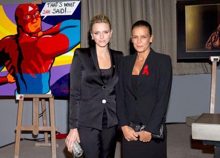 Prinsessan Stephanie och Charlene Wittstock kämpar mot aids